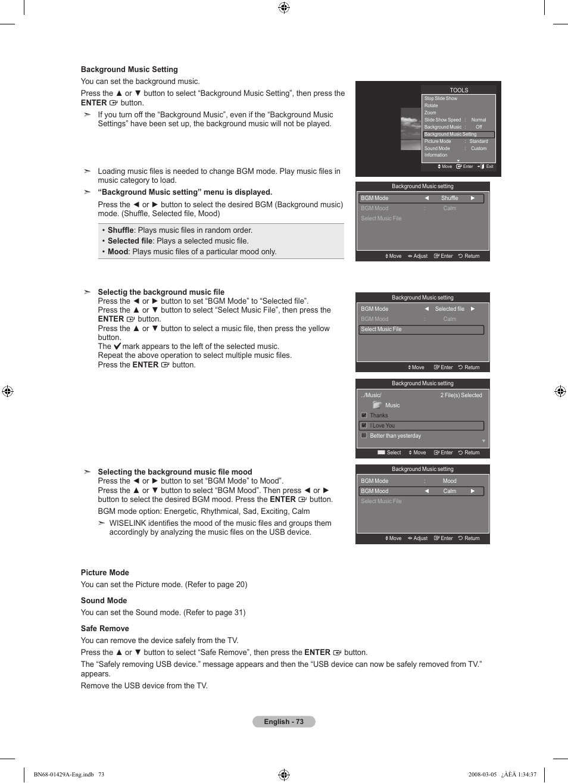 Samsung LN46A650A1FXZA User Manual   Page 75 / 222