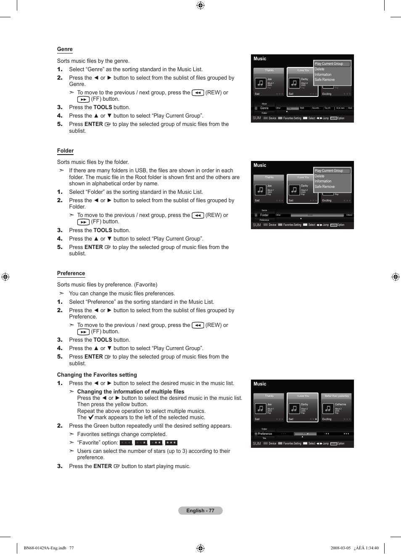 Samsung LN46A650A1FXZA User Manual   Page 79 / 222