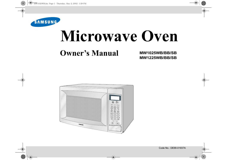 Samsung Microwave Manuals Bestmicrowave