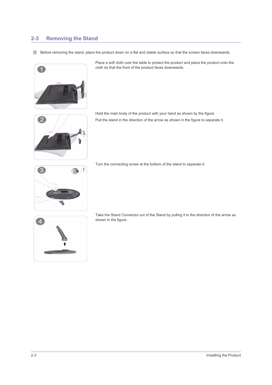 3 Removing The Stand Removing The Stand 3 Samsung Ls23puhkfv Za User Manual Page 14 50 Hot promotions in stand arrow on aliexpress if you're still in two minds about stand arrow and are thinking about choosing a similar product, aliexpress is a great place to compare prices and sellers. manualsdir com
