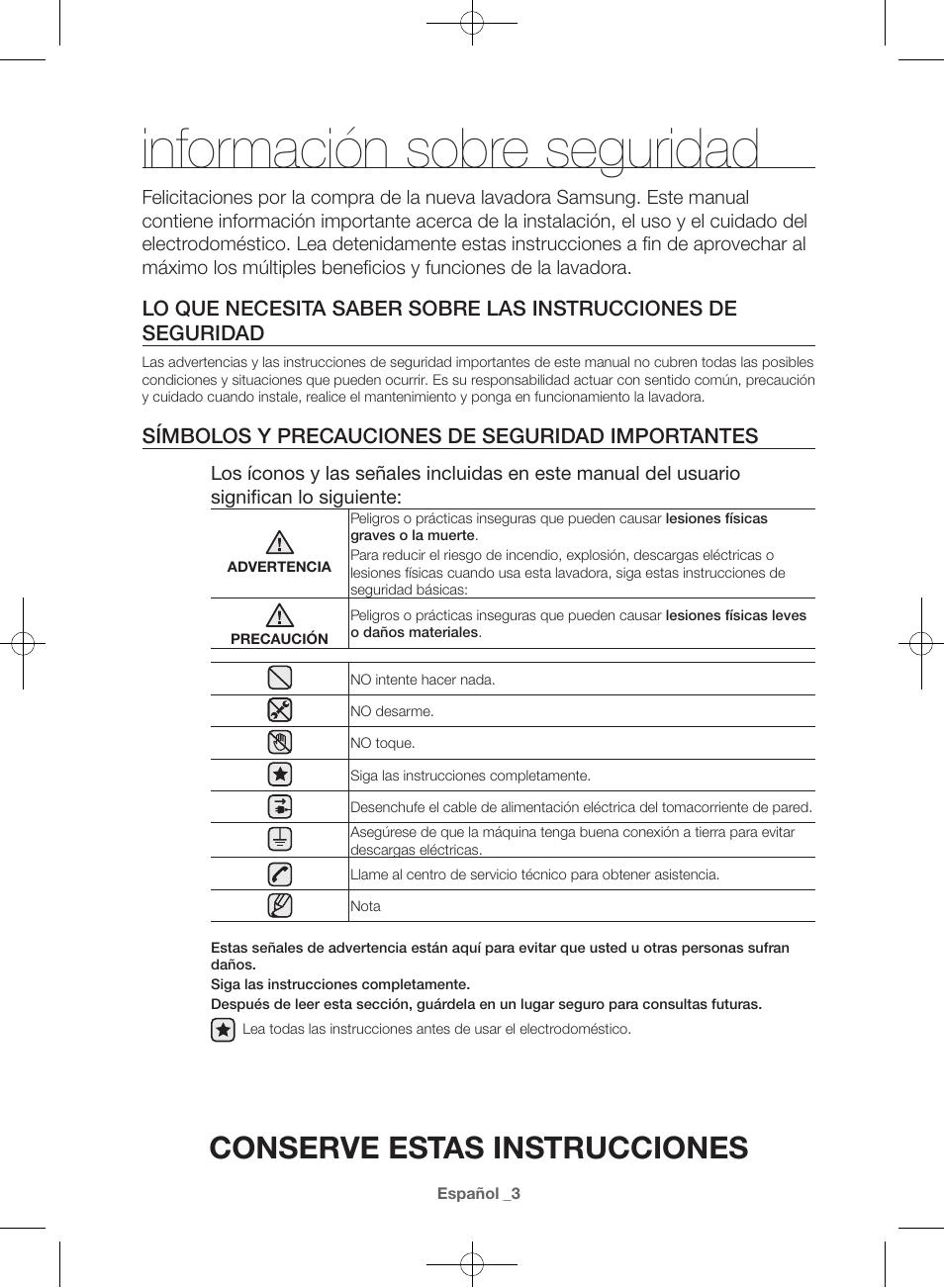 informaci n sobre seguridad conserve estas instrucciones s mbolos rh manualsdir com manual de instrucciones samsung galaxy j5 manual de instrucciones samsung j7 prime