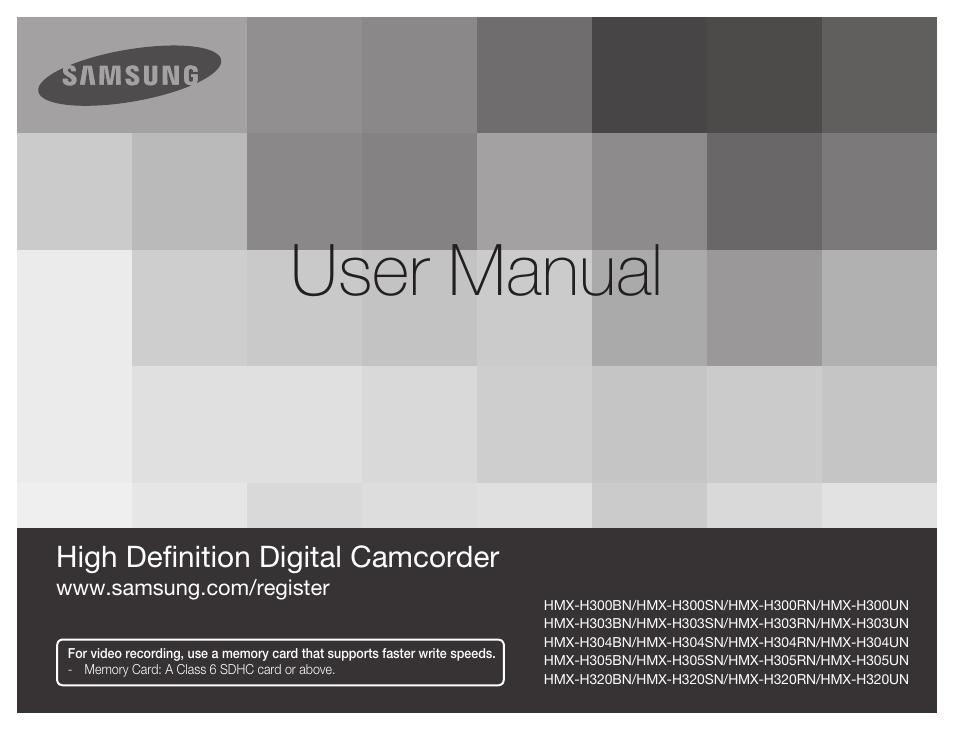 samsung hmx h300bn xaa user manual 122 pages also for hmx rh manualsdir com Samsung Digital Camcorder Samsung HMX U10