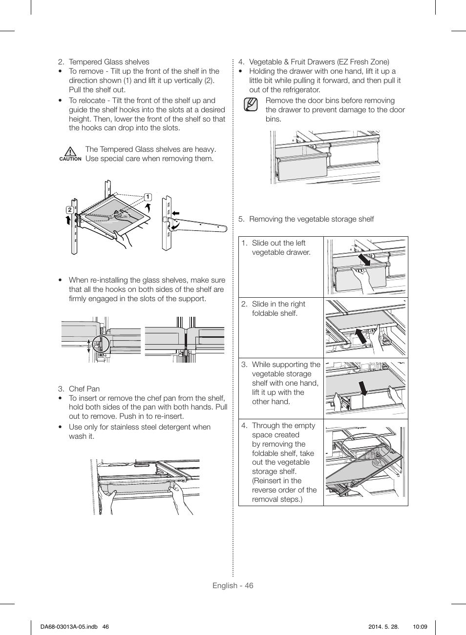 samsung rf34h9960s4 aa user manual page 46 180 original mode rh manualsdir com Drawer Construction Plastic Drawer Runners