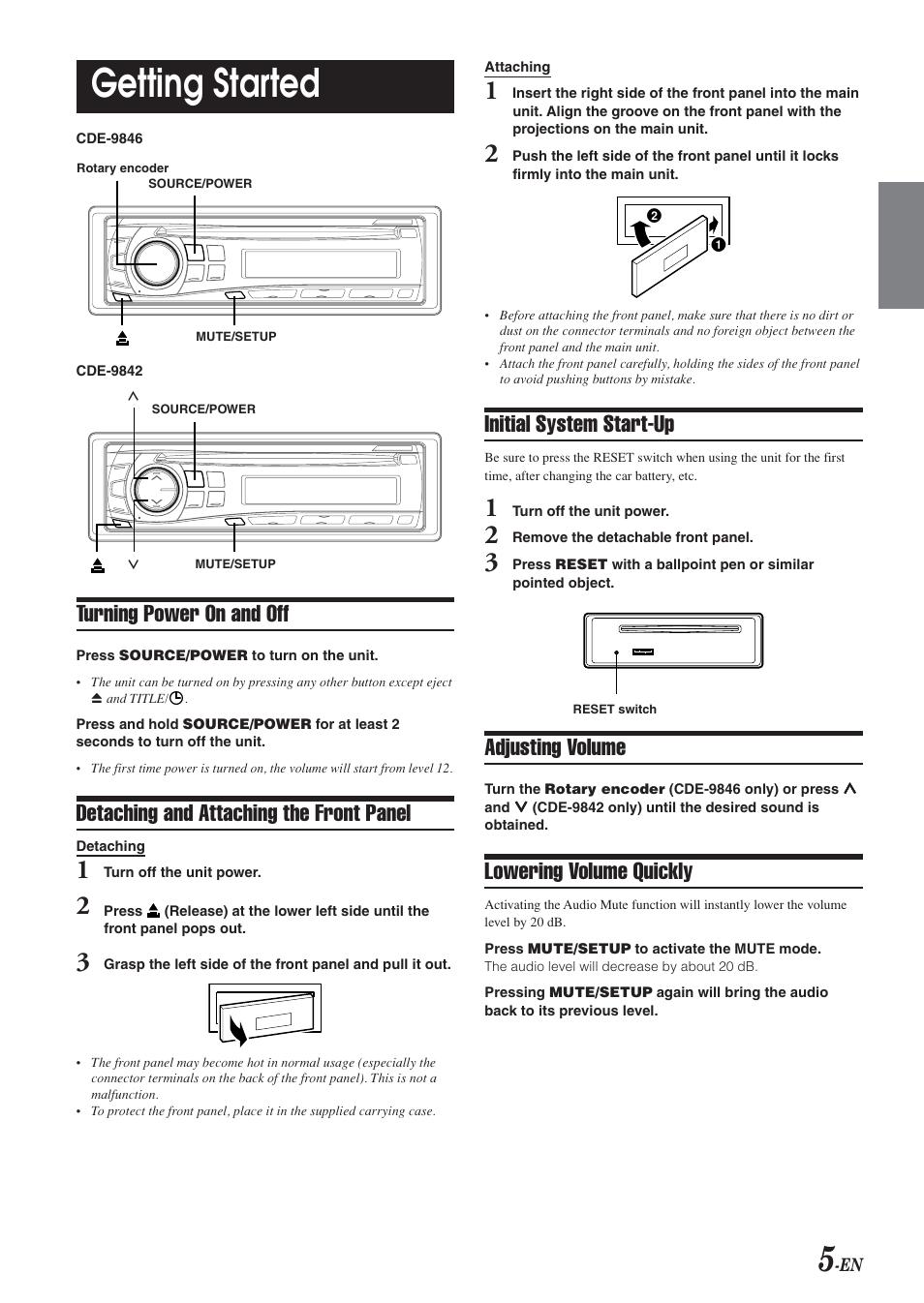 alpine cde 9842 manual open source user manual u2022 rh dramatic varieties com Alpine CDE- 143BT Alpine CDE iPod Control