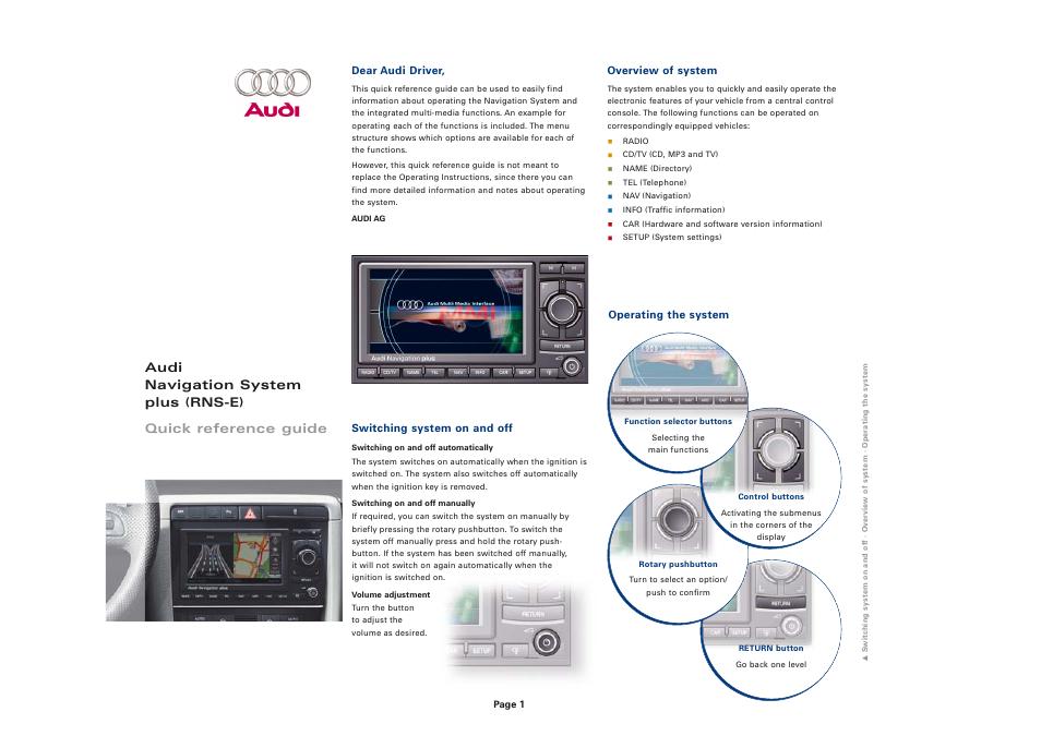 Ongekend Audi Navigation Plus Wiring - Wiring Diagram Write KJ-04