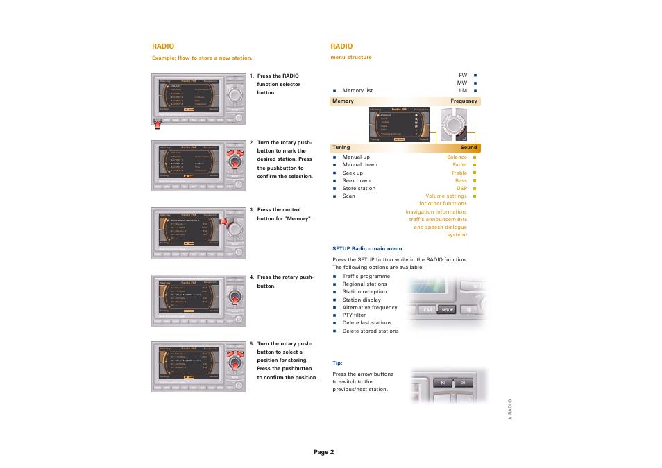 radio page 2 audi navigation system plus rns e user manual rh manualsdir com rns-d manual pdf rns 310 manuale d'uso