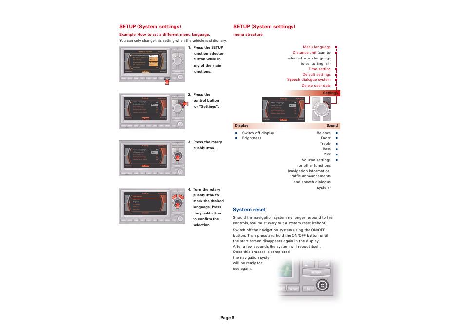 setup system settings system reset page 8 audi navigation rh manualsdir com manual rns 310 español manual rns-e