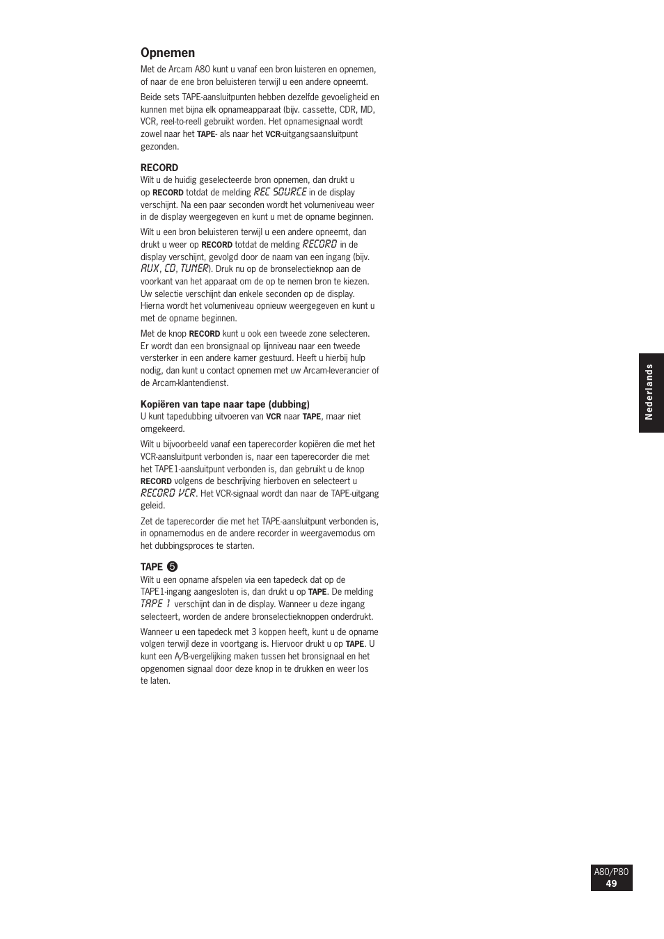 opnemen arcam a80 user manual page 49 60 original mode rh manualsdir com