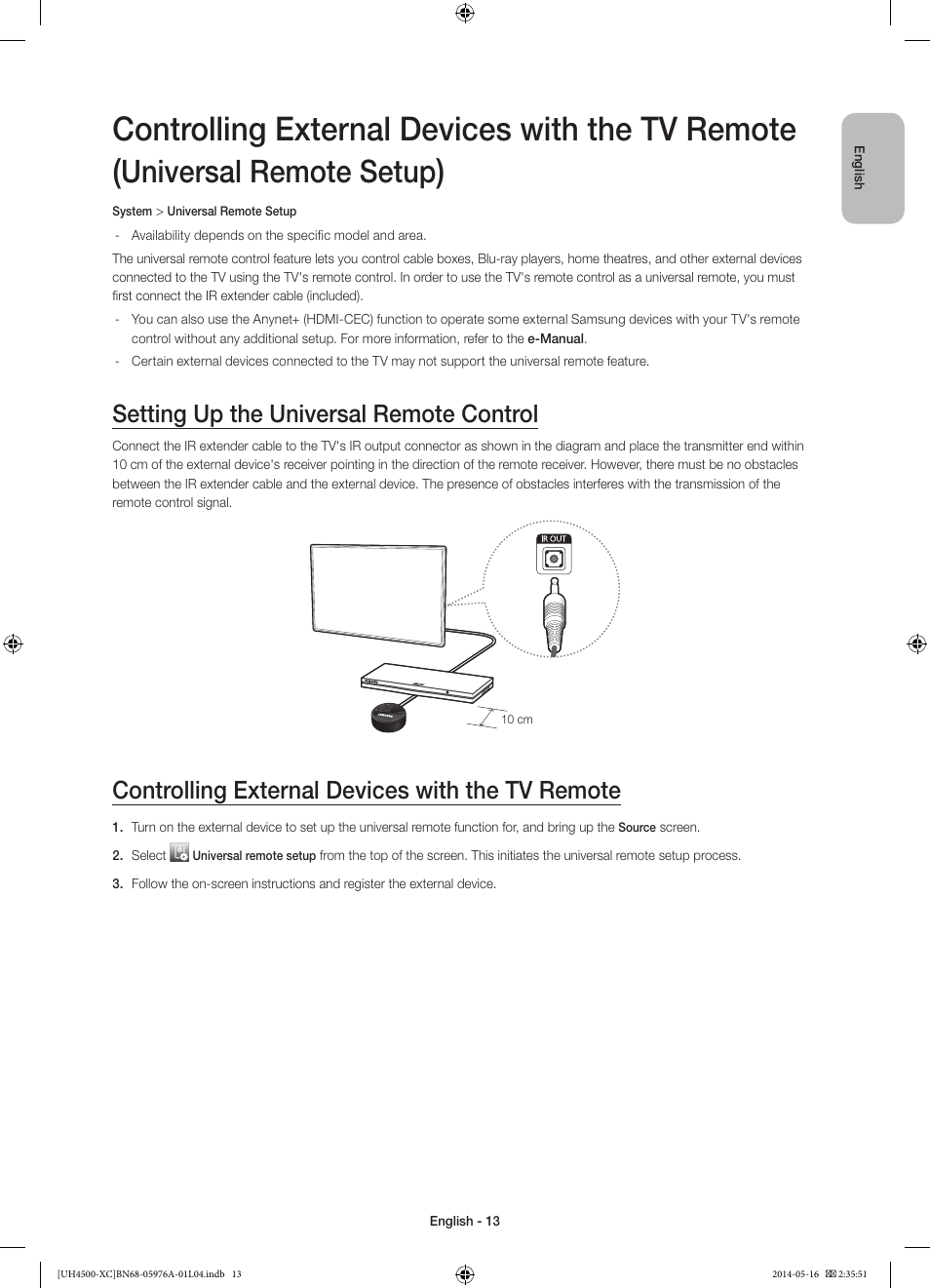 Controlling External Devices With The Tv Remote Universal Remote