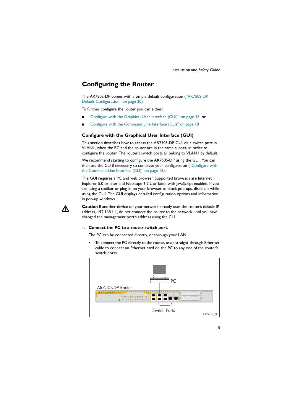Configuring The Router Allied Telesis Ar750s Dp Secure Vpn Straight Through Ethernet Cable User Manual Page 16 50
