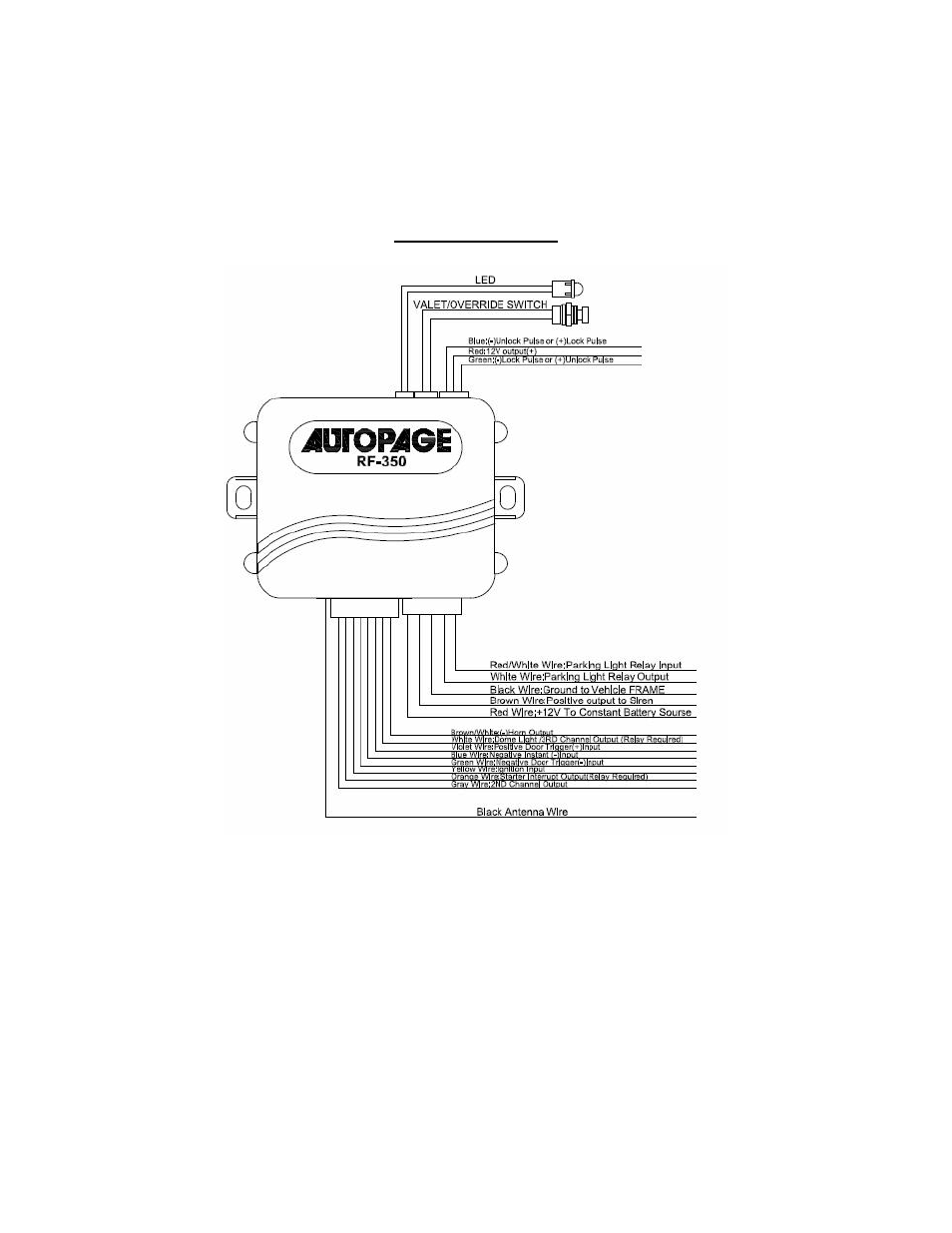 Autopage Wiring Diagram Valet Auto Page Rf 350 User Manual 2 16autopage 13
