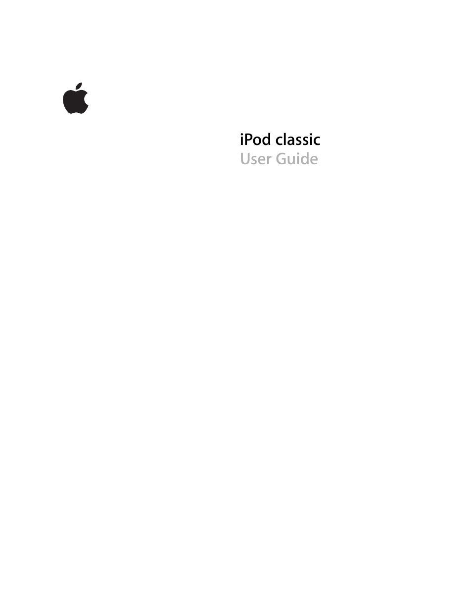 apple ipod classic user manual 76 pages also for ipod classic rh manualsdir com apple ipod classic user guide apple ipod classic 80gb user guide