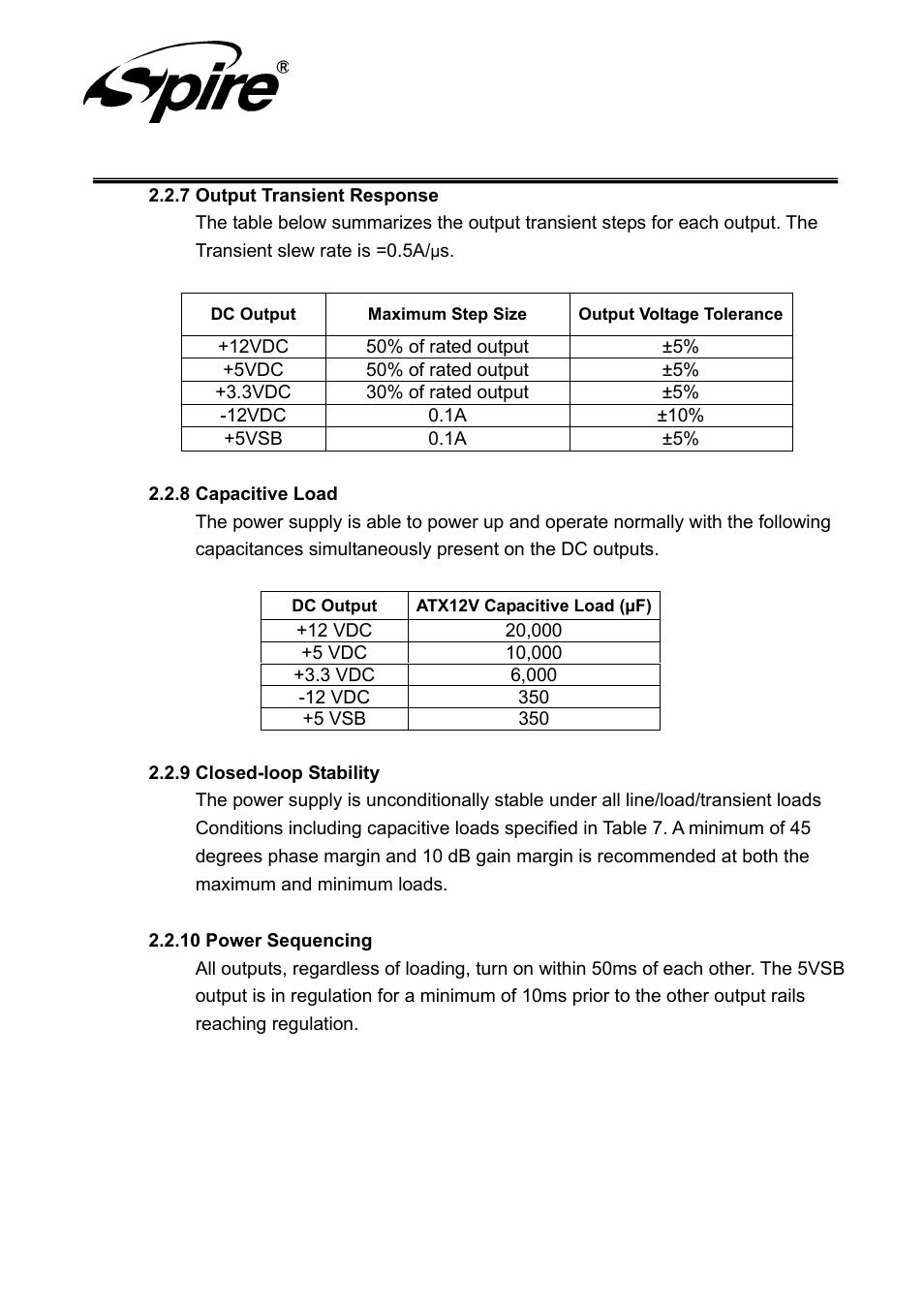 Spire corp | Spire JEWEL 420W / SP-ATX-420W-C1-PFC User