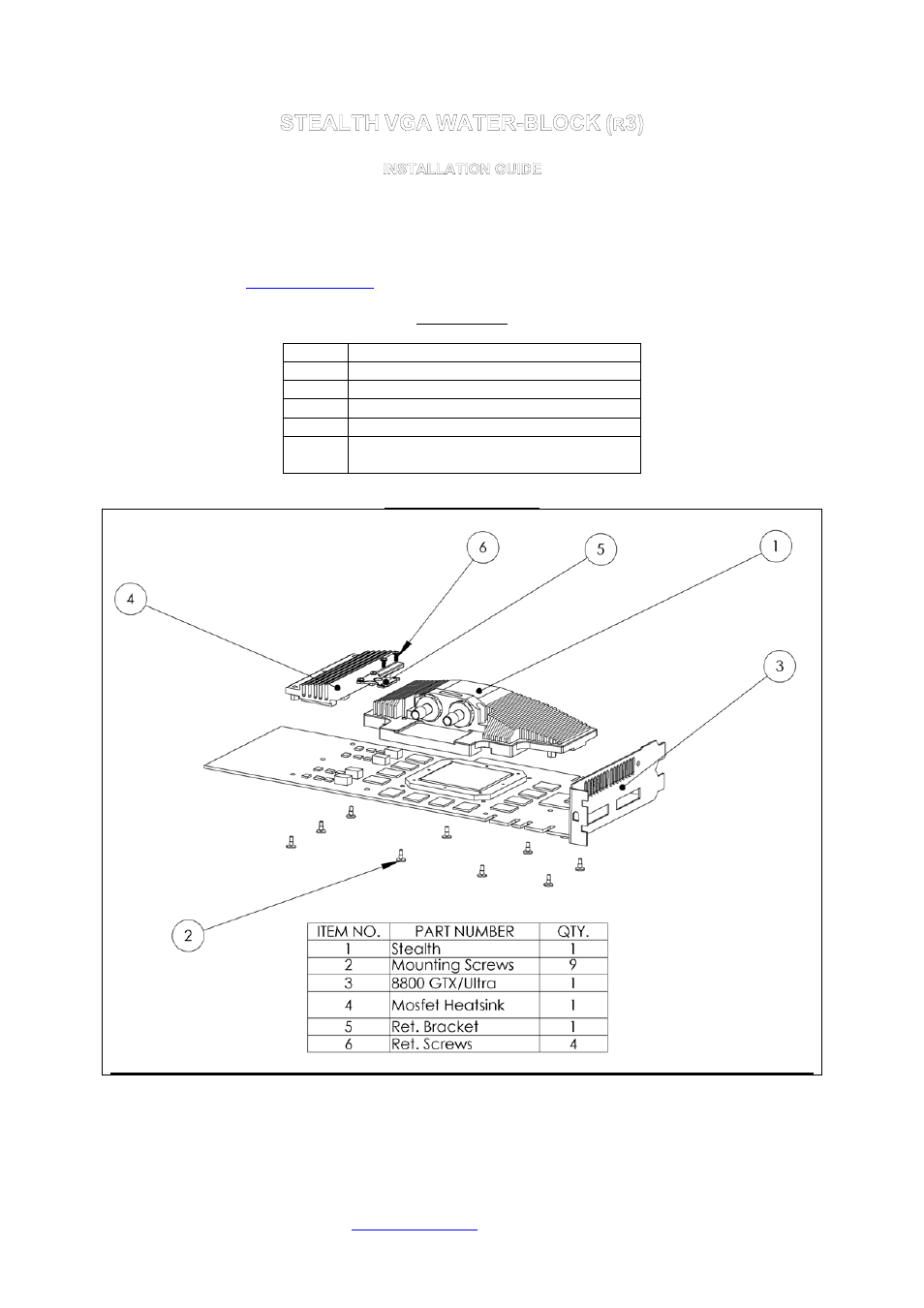 Swiftech STEALTH REV3 User Manual   2 pages