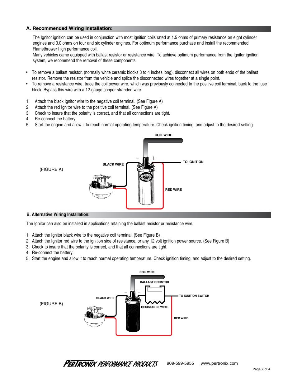 Pertronix Ignitor 1281 User Manual