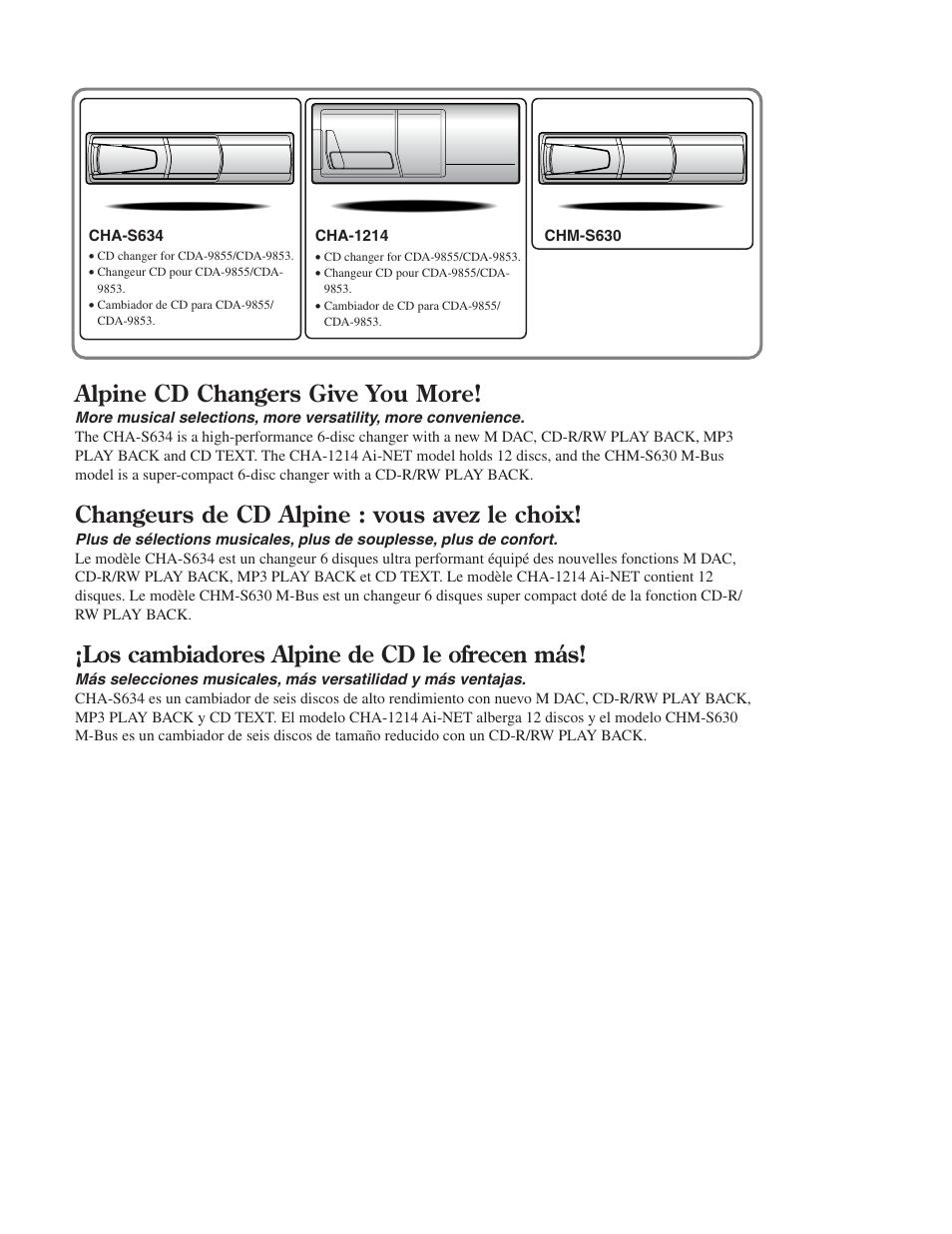 alpine cd changer info alpine cd changers give you more changeurs rh manualsdir com