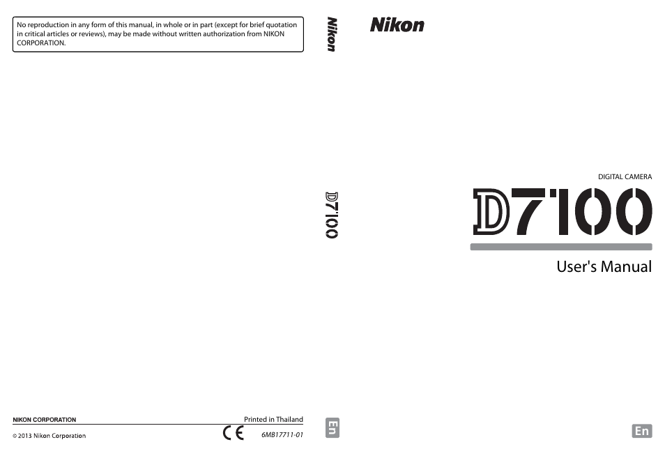 nikon d7100 user manual | 384 pages