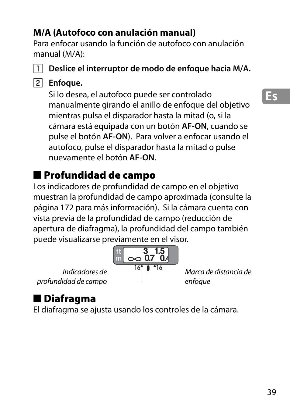 M A Autofoco Con Anulacin Manual Profundidad De Campo Diafragma Nikon Af S 28mm F18g