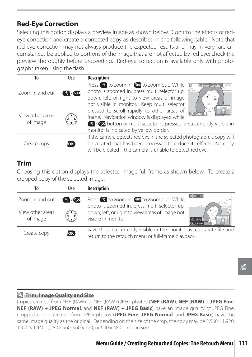 red eye correction trim nikon d80 user manual page 123 162 rh manualsdir com digium d80 user manual neato d80 user manual