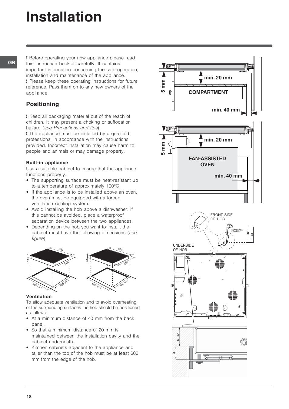 Installation  Positioning