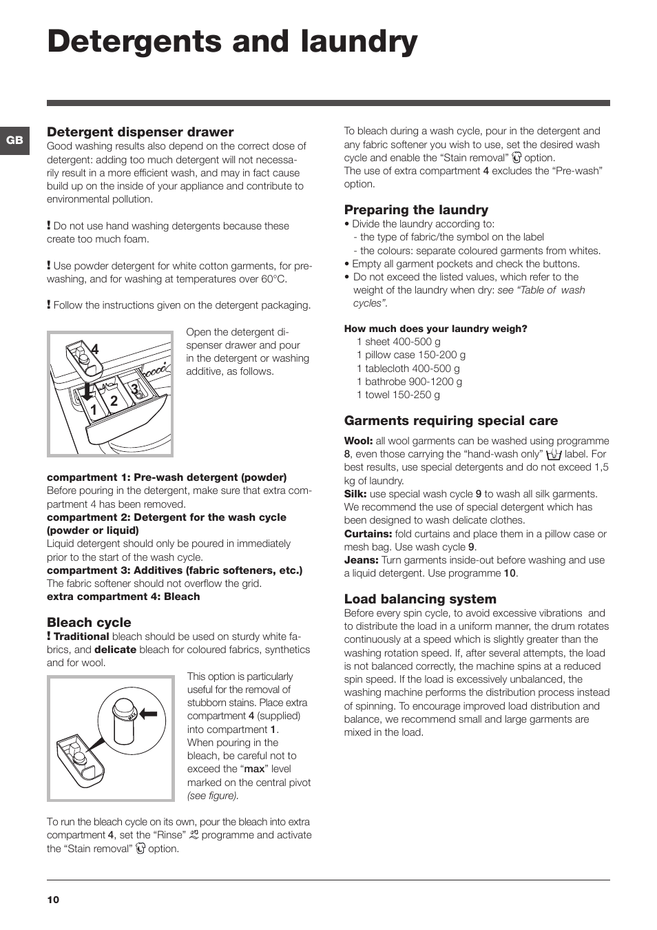 detergents and laundry indesit iwc 6105 eu user manual page 10 rh manualsdir com
