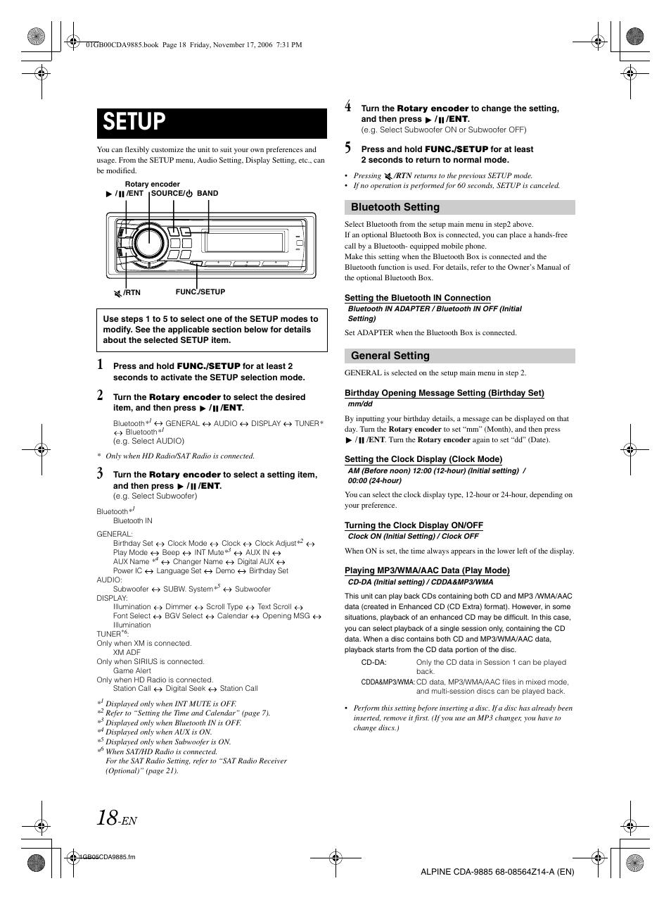 setup bluetooth setting general setting alpine cda 9885 user rh manualsdir com alpine cda 9887 manual alpine cda 9885 owners manual