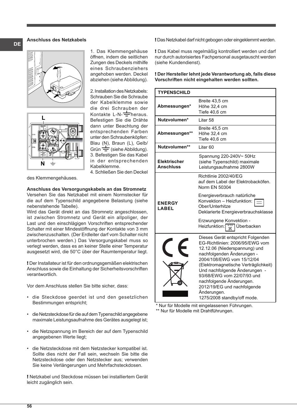 Indesit FIM-88-KGP.A-IX-S User Manual | Page 56 / 72 | Original mode
