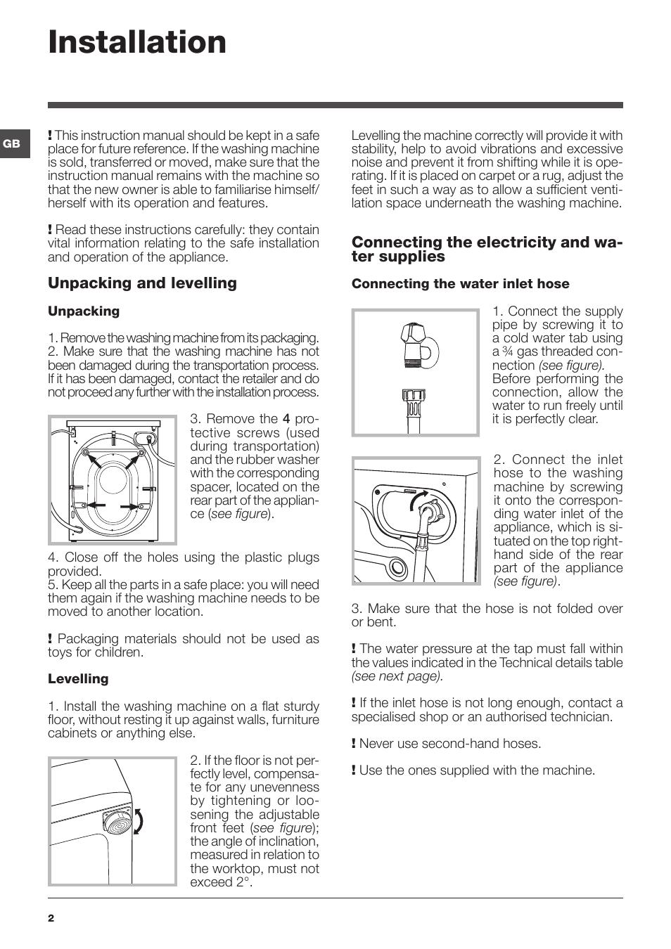 installation indesit iwc 61051 eu user manual page 2 72 rh manualsdir com lavadora indesit iwc 61051 manual indesit iwc 61051 eu manual