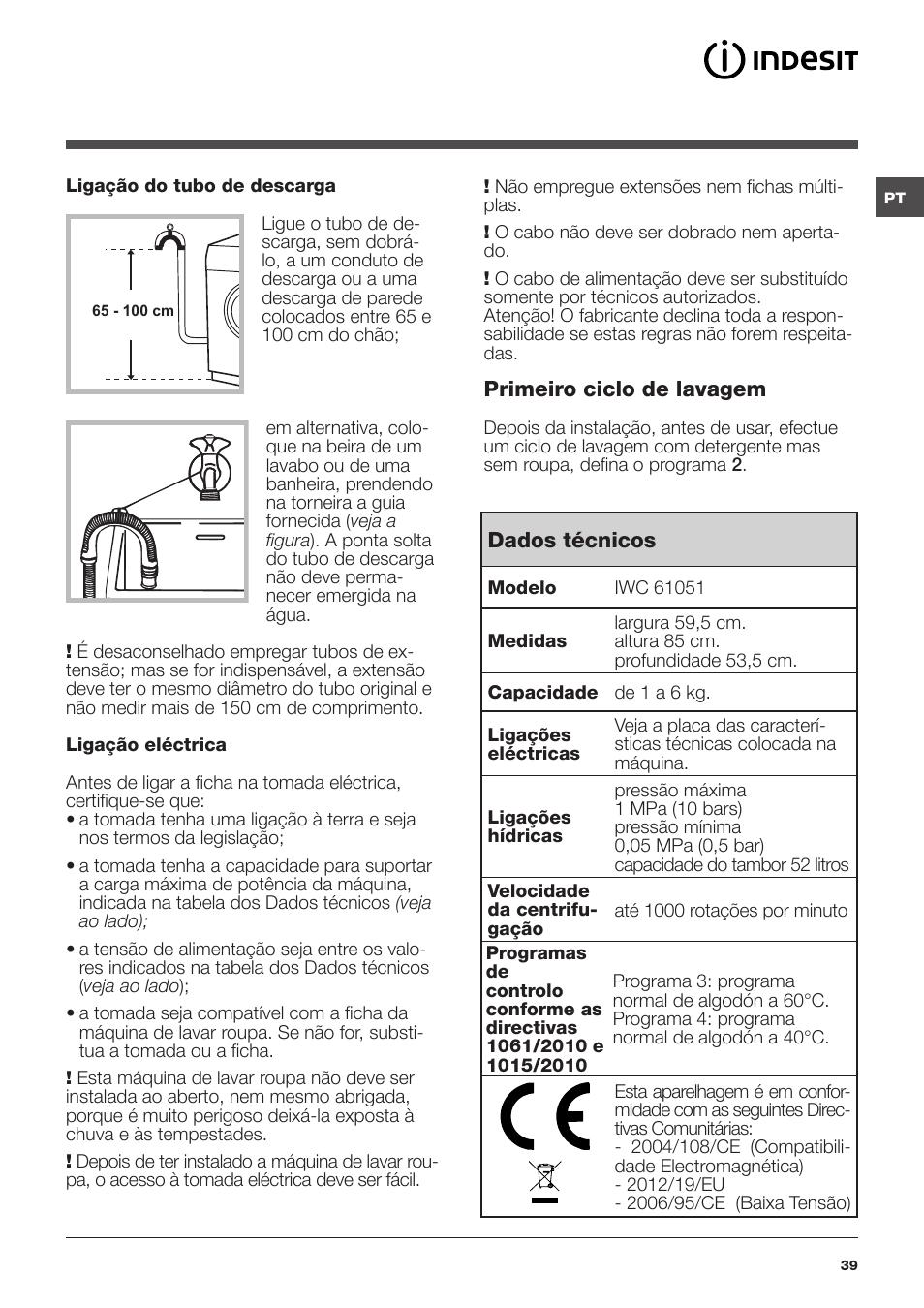 indesit iwc 61051 eu user manual page 39 72 original mode rh manualsdir com indesit iwc 61051 mode d'emploi indesit iwc 61051 eu manual