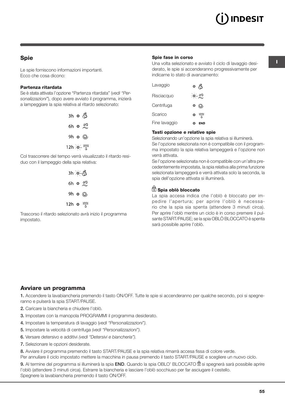 spie avviare un programma indesit iwc 61051 eu user manual page rh manualsdir com indesit iwc 61051 eu manual indesit iwc 61051 manuale italiano