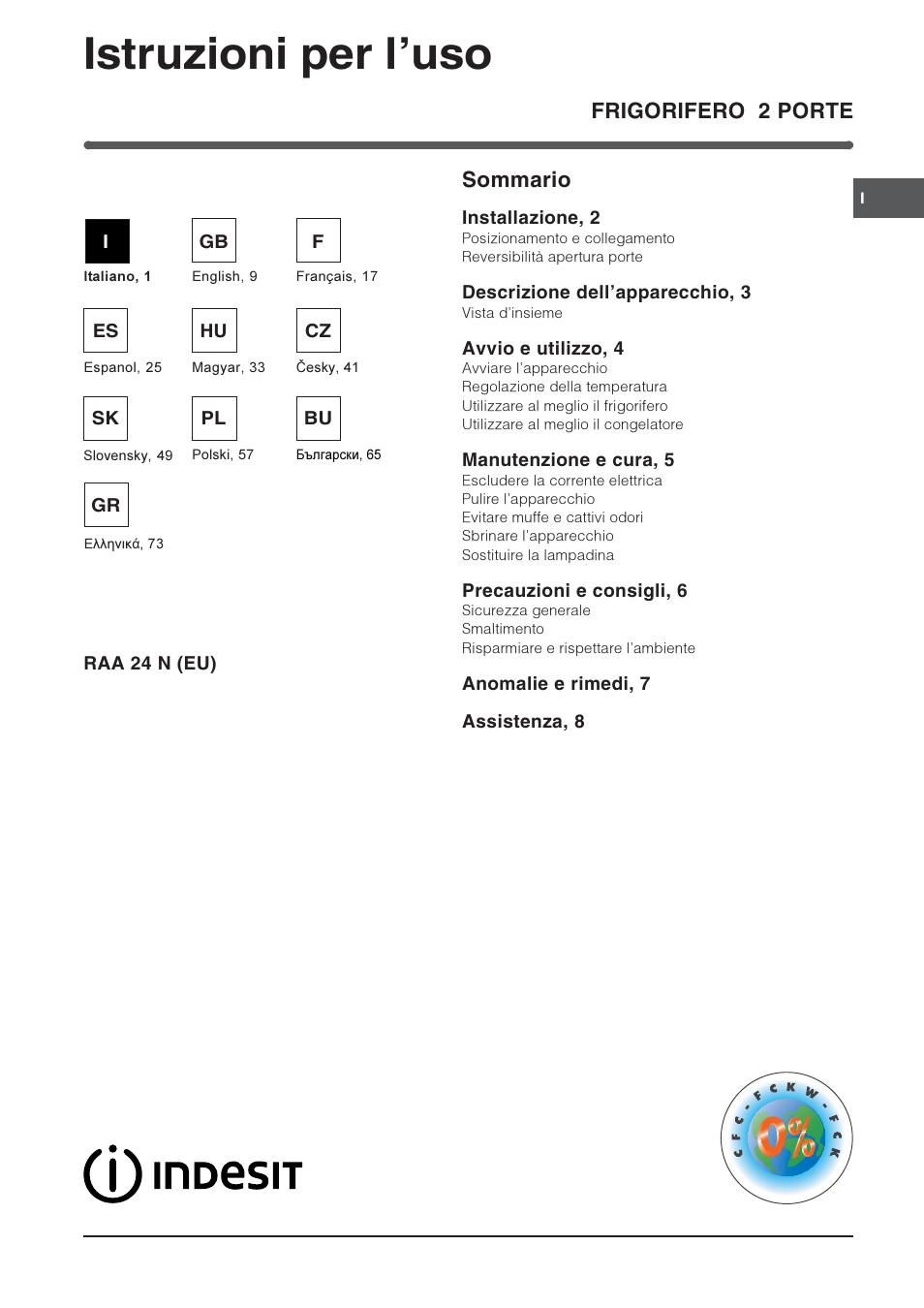 indesit raa 24 n eu user manual 80 pages original mode rh manualsdir com indesit user manual indesit user manual