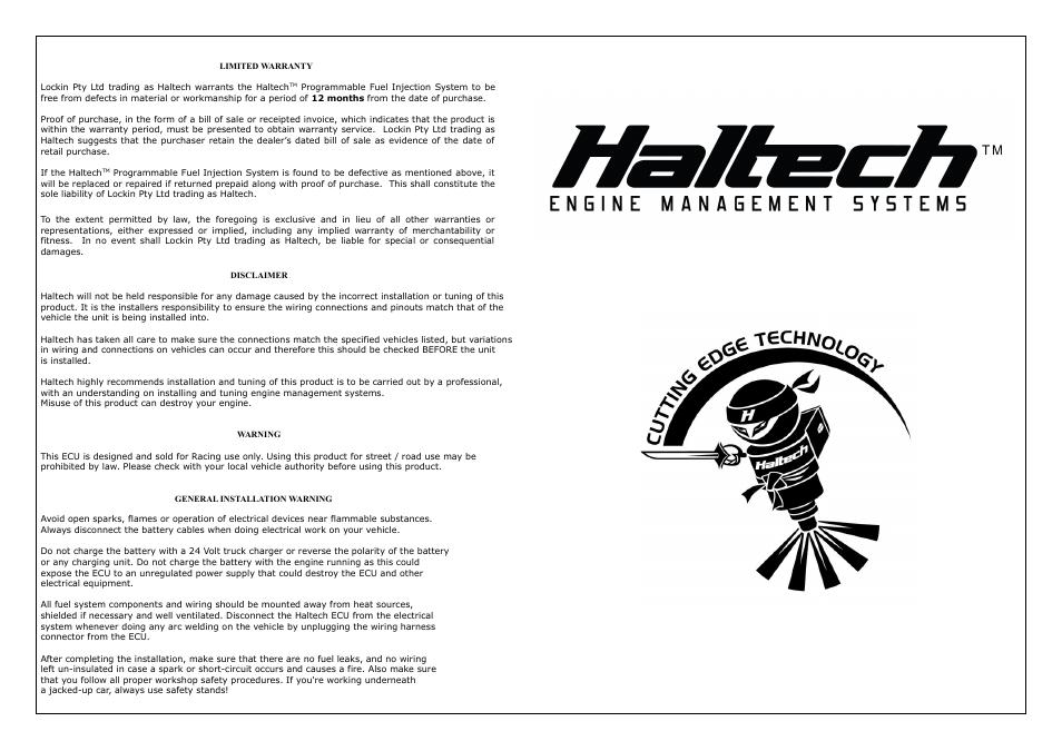Haltech Device Emulator 8 (HT020602) User Manual | Page 7 / 8