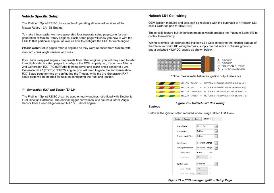 Haltech Platinum Sprint RE  HT050900  User Manual   Page