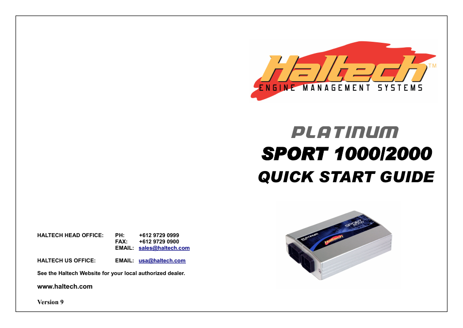 haltech platinum sport 1000 user manual  20 pages  also