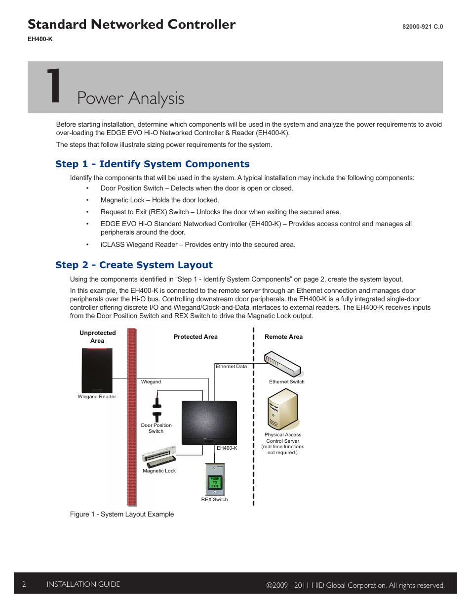 1 - power analysis, Step 1 - identify system components, Step 2