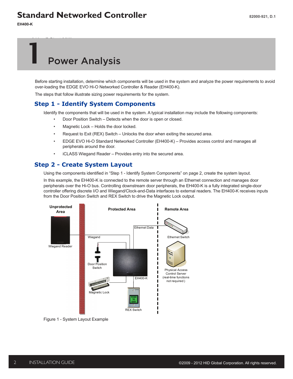 hid edge evo solo esh400 k networked controller installation guide page2 100 [ hid prox reader wiring diagram ] hid card reader wiring hid edge evo wiring diagram at bayanpartner.co