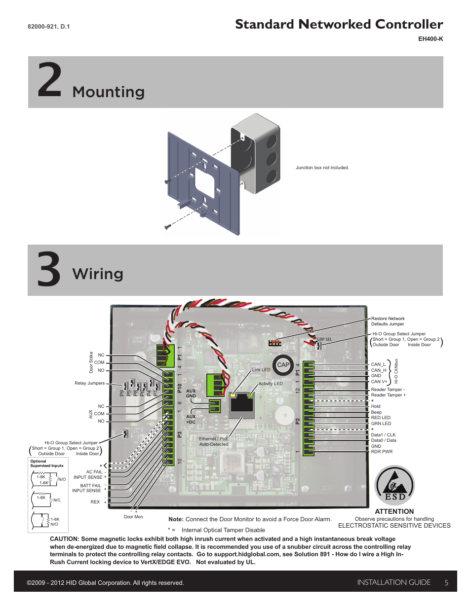 hid edge evo solo esh400 k networked controller installation guide page5 hid edge evo wiring diagram edge evo edwm m \u2022 wiring diagrams j H13 HID Relay Wiring Diagram at n-0.co
