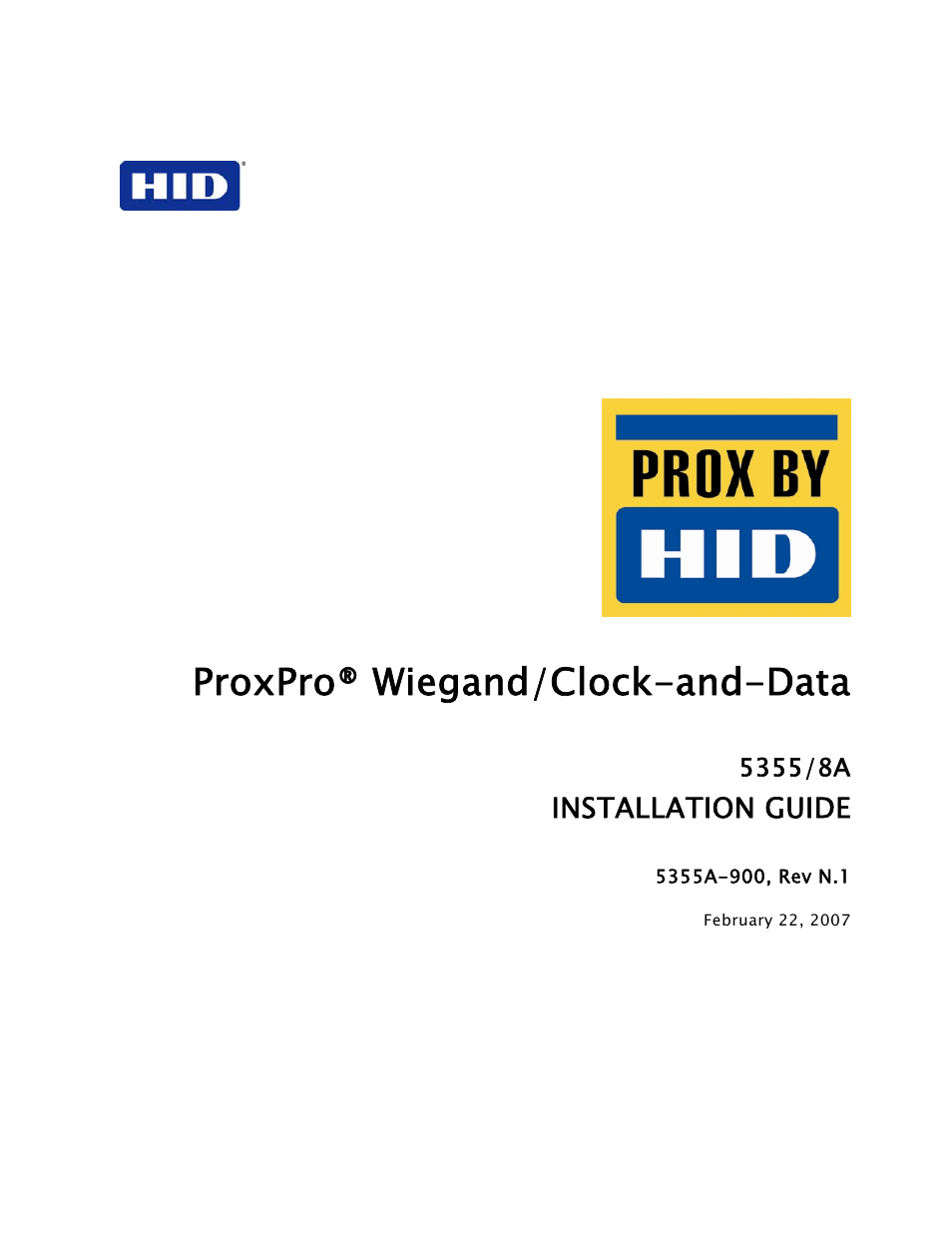Hid Proxpro Installation Guide User Manual 14 Pages Access Wiring Diagram