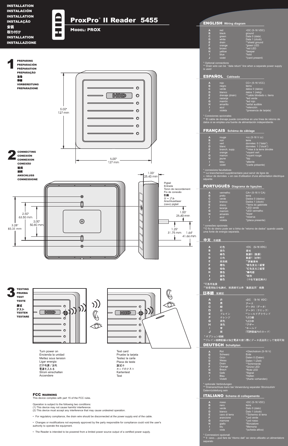 Access Control Card Reader Wiring Diagram from www.manualsdir.com