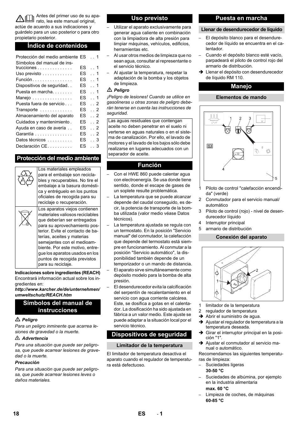 Karcher Générateur d'eau chaude HWE 860 User Manual | Page 18 / 72