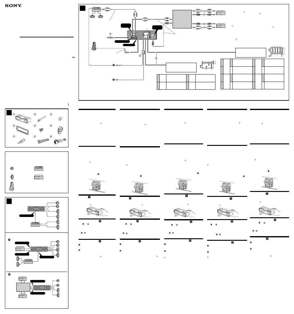 Sony XR-CA630X User Manual | 2 pages