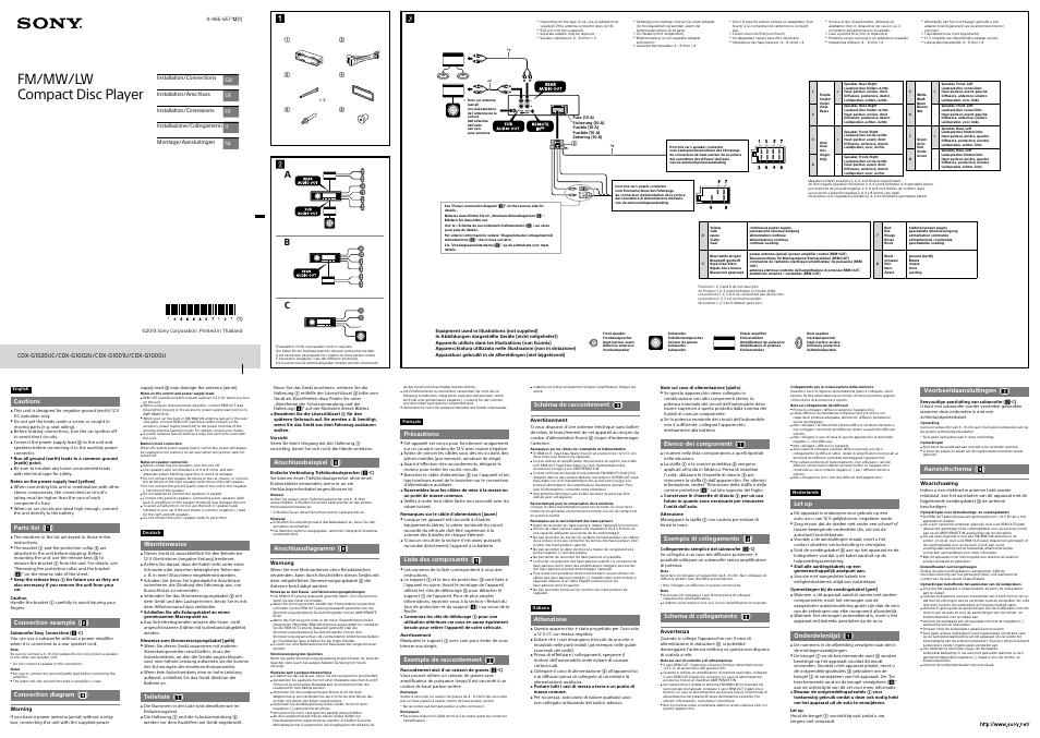 Charmant Sony Cdx Schaltplan Ideen - Elektrische Schaltplan-Ideen ...