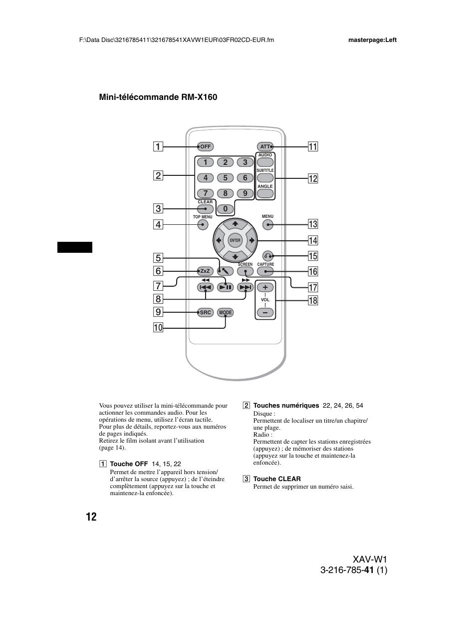 mini t l commande rm x160 sony xav w1 user manual page 146 344 rh manualsdir com