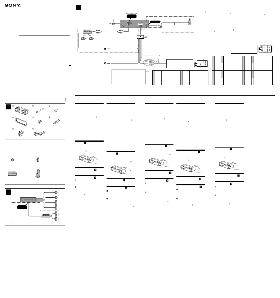 sony cdx l410 page1 sony cdx l410 user manual 2 pages sony cdx l410x wiring diagram at mr168.co