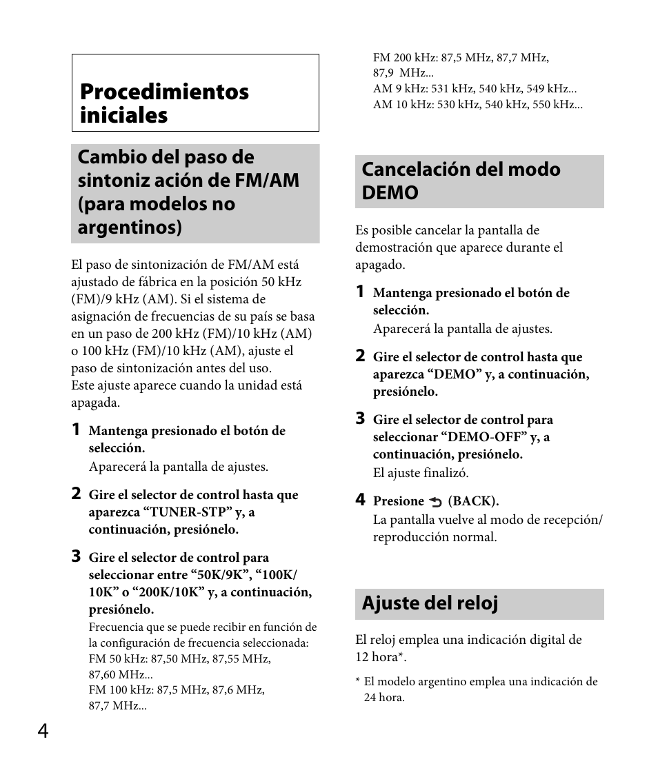 Procedimientos Iniciales  Cancelaci U00f3n Del Modo Demo