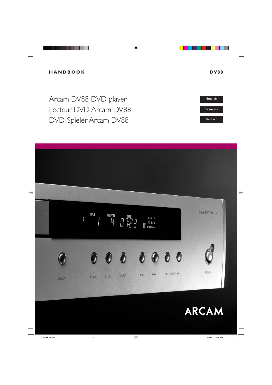arcam dvd player dv88 user manual 18 pages rh manualsdir com Quick Reference Guide Online User Guide