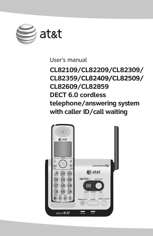 At U0026t Dect Cl82359 User Manual