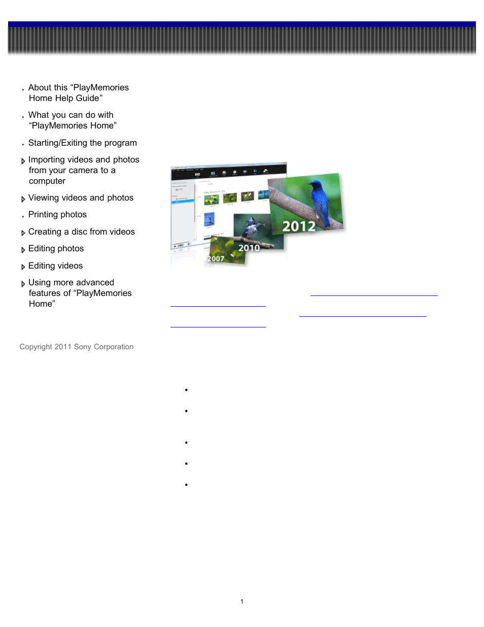Sony Playmemories Home User Manual