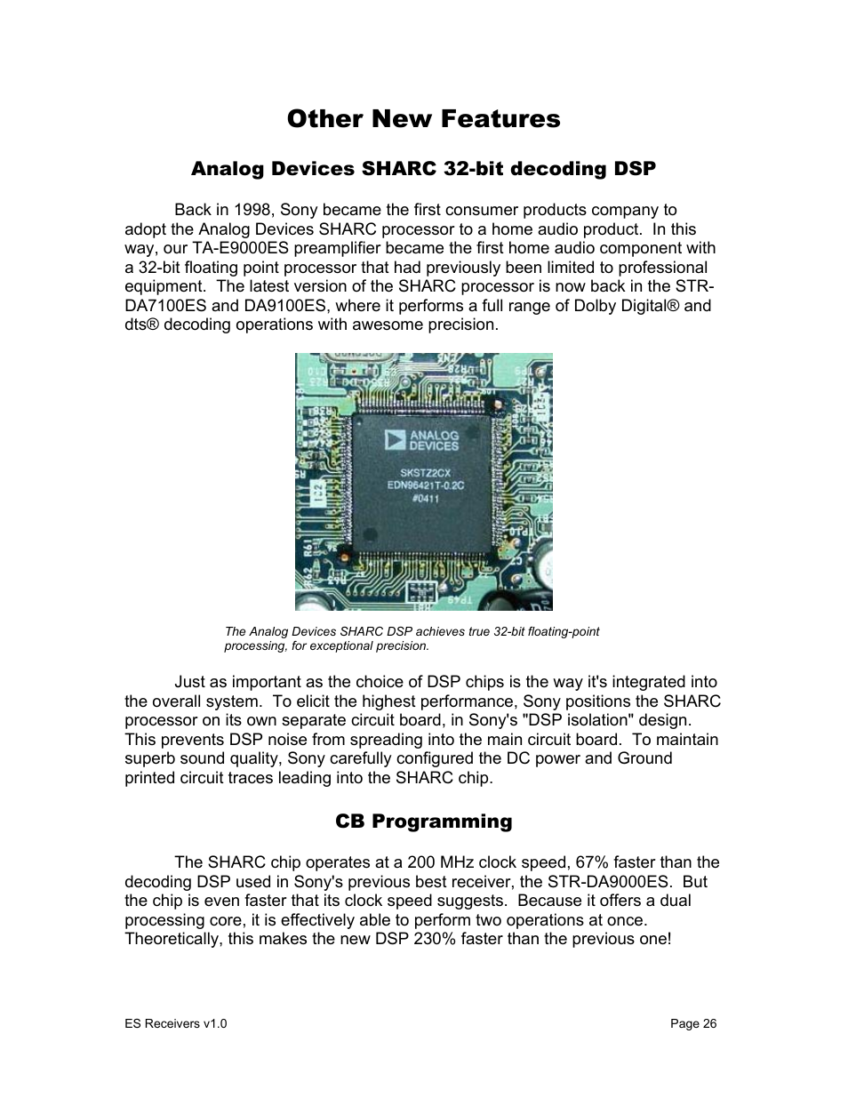 Other new features | Sony STR-DA9000ES User Manual | Page 26