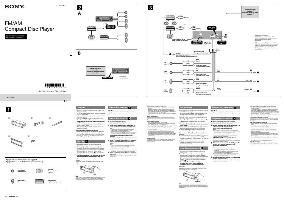 sony cdx gt56ui manual data wiring diagrams u2022 rh naopak co